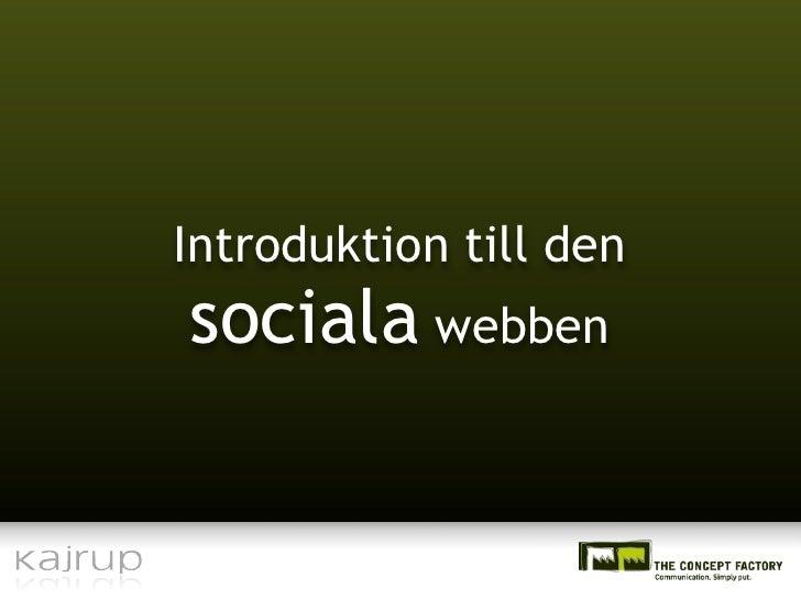 Introduktion till den sociala webben
