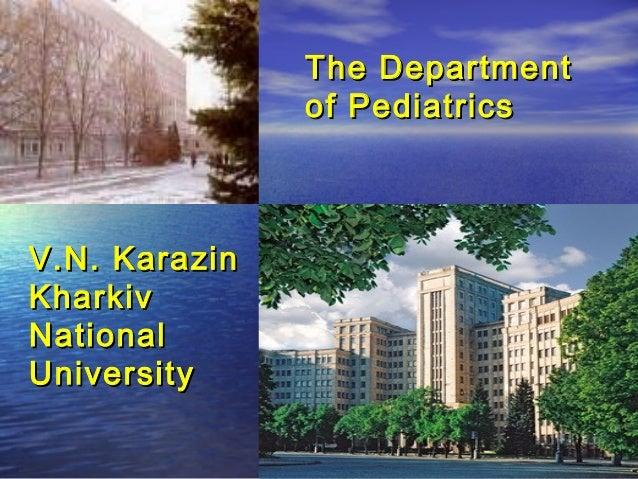 The Department of Pediatrics  V.N. Karazin Kharkiv National University