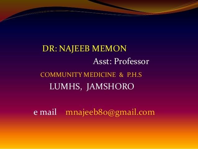 Malnutrition by dr najeeb for An najeeb cuisine