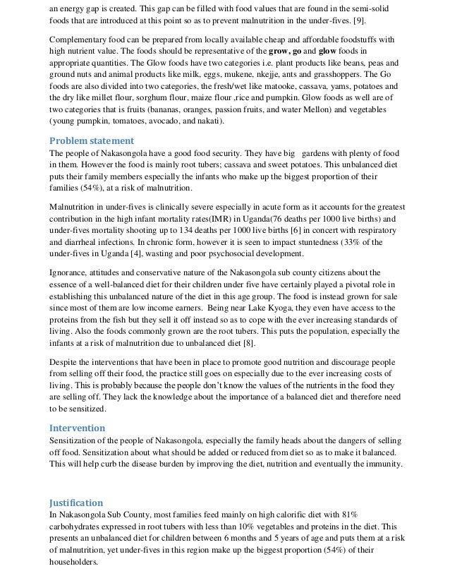 Short essay on malnutrition