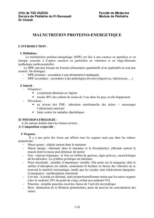 CHU de TIZI OUZOU                                                  Faculté de MédecineService de Pédiatrie du Pr Bensaadi ...