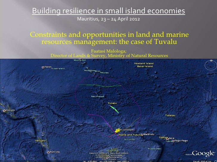 Building resilience in small island economies                  Mauritius, 23 – 24 April 2012Constraints and opportunities ...