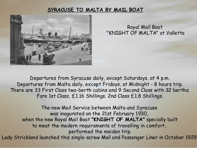 Business Companies In Malta Mail: Memories Of Malta In The 1930's