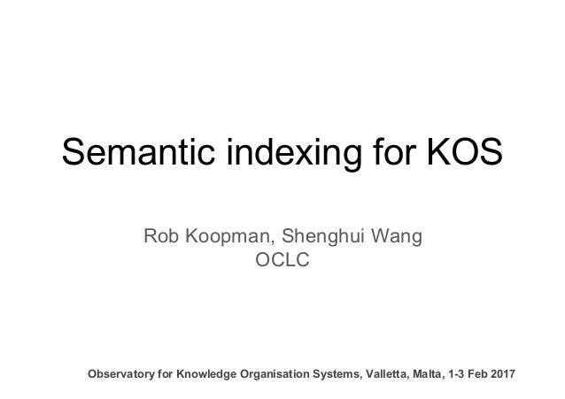 Semantic indexing for KOS