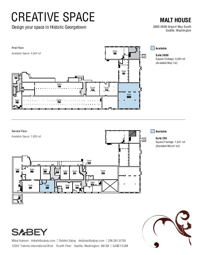CREATIVE SPACE  MALT HOUSE  Design your space in Historic Georgetown  5800-5890 Airport Way South Seattle, Washington  Fir...