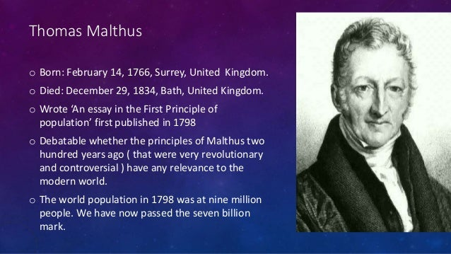 essay on population thomas malthus