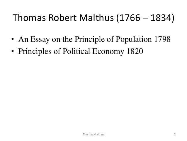 Robert malthus essay