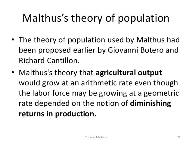 malthus malthus s theory of population