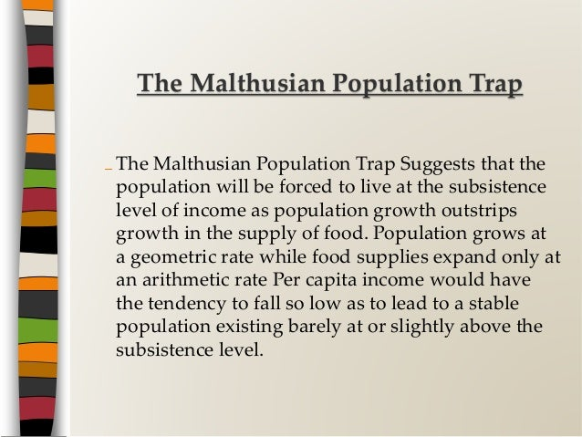 definition of malthusian theory of population