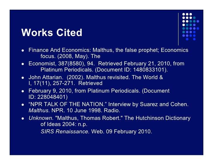 malthus presentationpeedeeeff