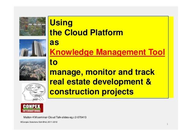 Using                            the Cloud Platform                            as                            Knowledge Man...