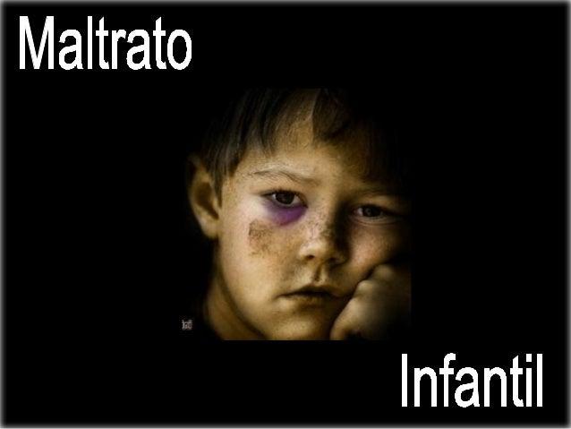 El maltrato infantil se define como los abusos y la desatención de que son objeto los menores de 18 años.