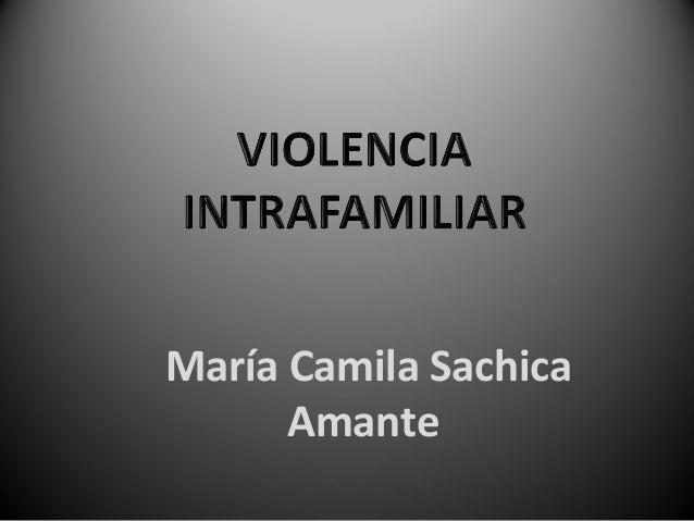 María Camila SachicaAmante
