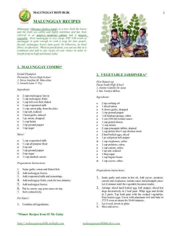 Malunggay recipes