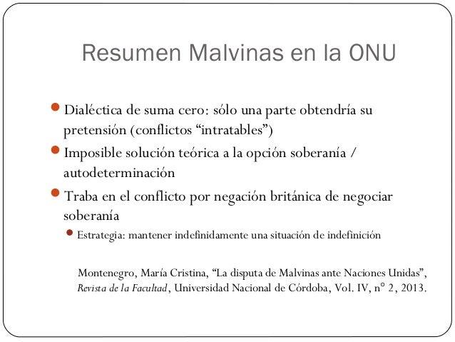 Malvinas En El Derecho Internacional Historia La Guerra Y La Situac