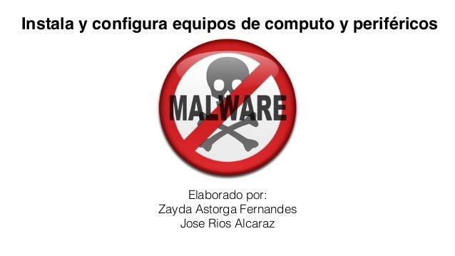 Elaborado por: Zayda Astorga Fernandes Jose Rios Alcaraz Instala y configura equipos de computo y periféricos