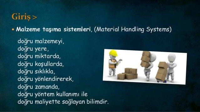 Malzeme taşıma si̇stemleri̇ - Üni̇te yük eki̇pmanları / Material Handling Systems - Unit Load Equipment Slide 3