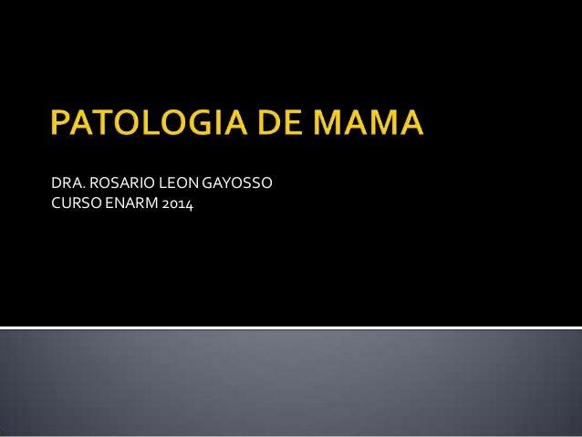 DRA. ROSARIO LEON GAYOSSO CURSO ENARM 2014