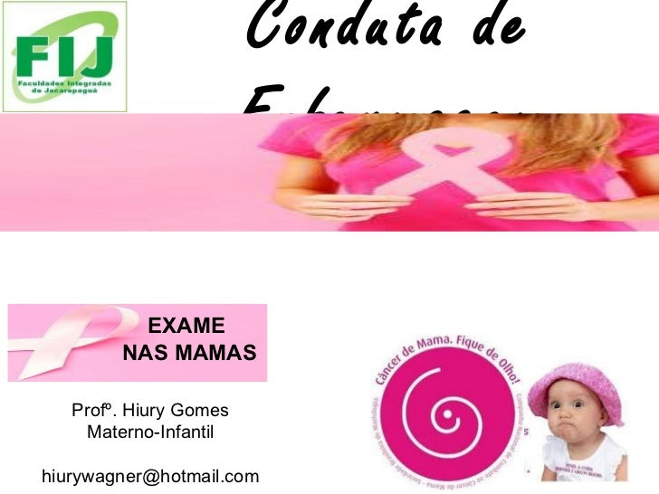 Conduta de Enfermagem Profº. Hiury Gomes Materno-Infantil [email_address] EXAME  NAS MAMAS