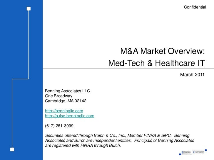 M&A Market Overview: Med-Tech & Healthcare IT