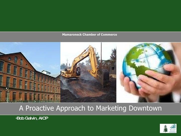 A Proactive Approach to Marketing Downtown Mamaroneck Chamber of Commerce  <ul><li>Bob Galvin, AICP </li></ul>