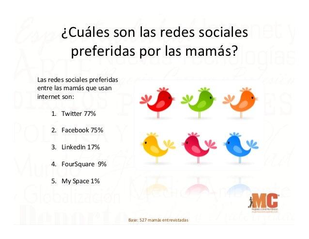 ¿Cuáles  son  las  redes  sociales   preferidas  por  las  mamás?   Las  redes  sociales  preferid...