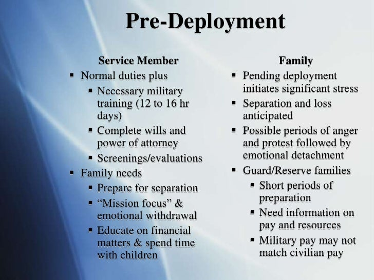 Military Families: Enduring Continuous Cycles of ...
