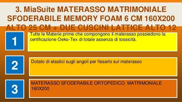 Baldiflex Materasso Matrimoniale Memory Plus Top Air Misura 160 x 190 x 25 cm Ergonomico 7 Zone Differenziate Sfoderabile Aloe Vera Cuscino Incluso