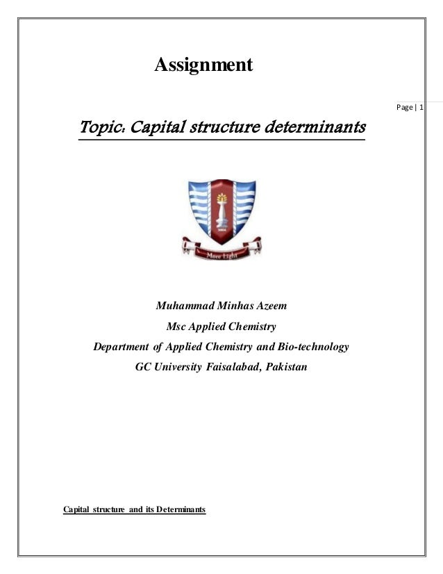 Determinants capital structure dissertation
