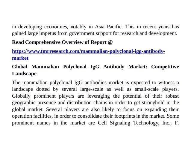 Mammalian Polyclonal IgG Antibody Market — Forecasts