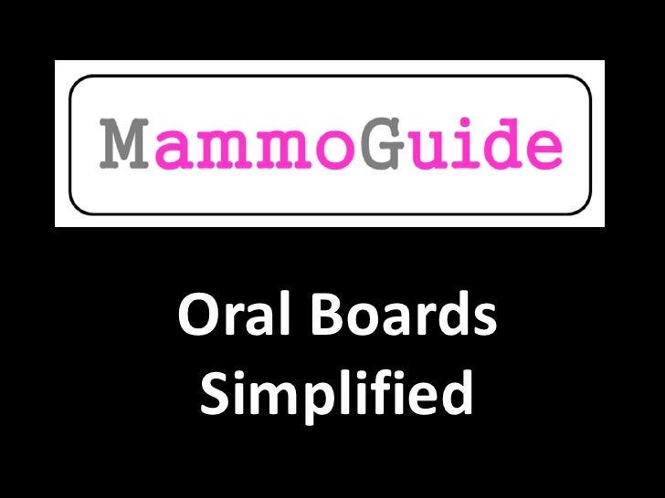 Oral Boards Simplified