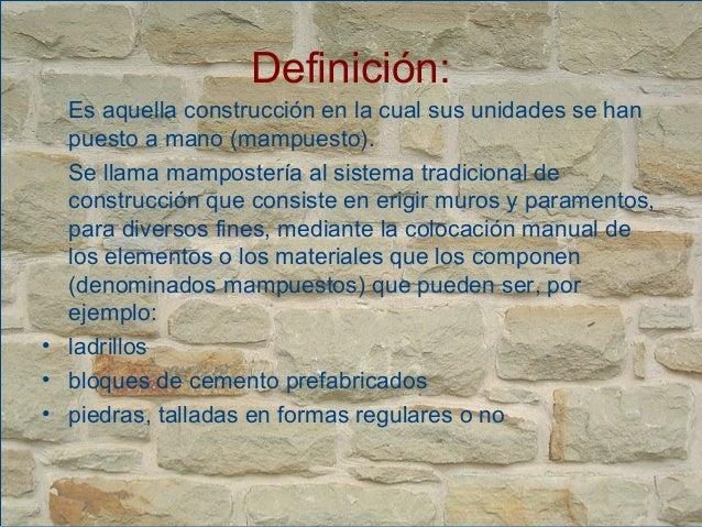Mamposteria for Que es arquitectura definicion