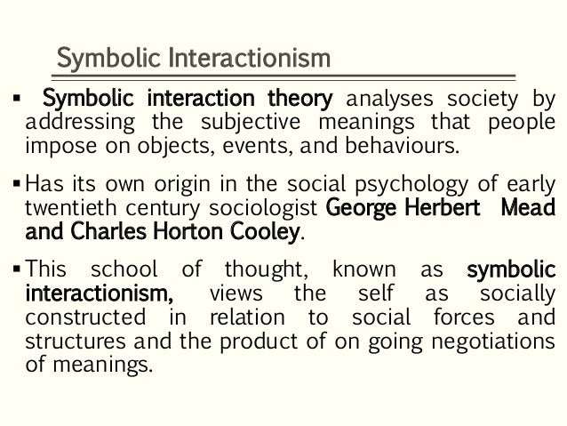 an analysis of three core principles of george herbert meads theory Soc4044 sociological theory: george herbert mead george herbert mead  event theory analysis theory planning theory  conflict theory: power is the core of .
