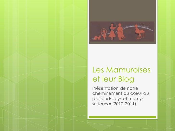 Les Mamuroises et leur Blog<br />Présentation de notre cheminement au cœur du projet «Papys et mamys surfeurs» (2010-201...