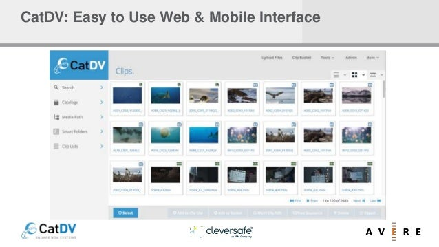 CatDV: Easy to Use Web & Mobile Interface