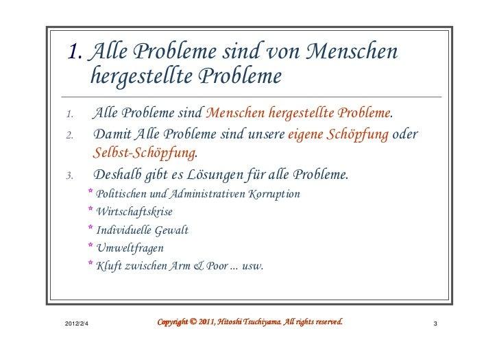 1. Alle Probleme sind von Menschen   hergestellte Probleme1.         Alle Probleme sind Menschen hergestellte Probleme.2. ...