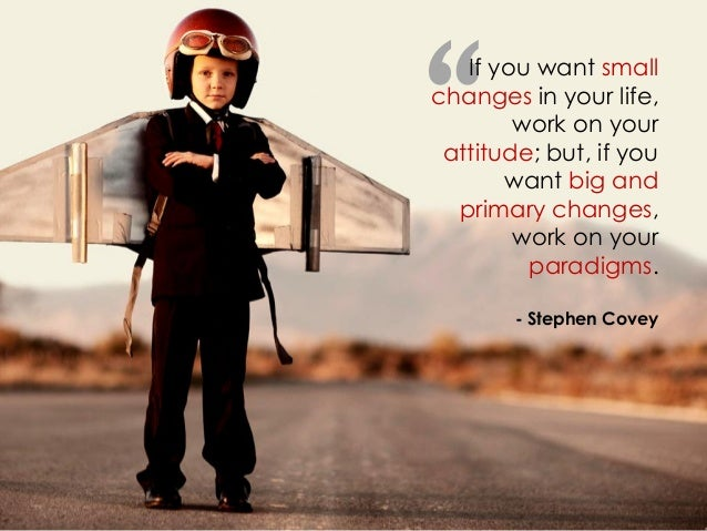 """"""" If you want small changes in your life, work on your attitude; but, if you want big and primary changes, work on your pa..."""