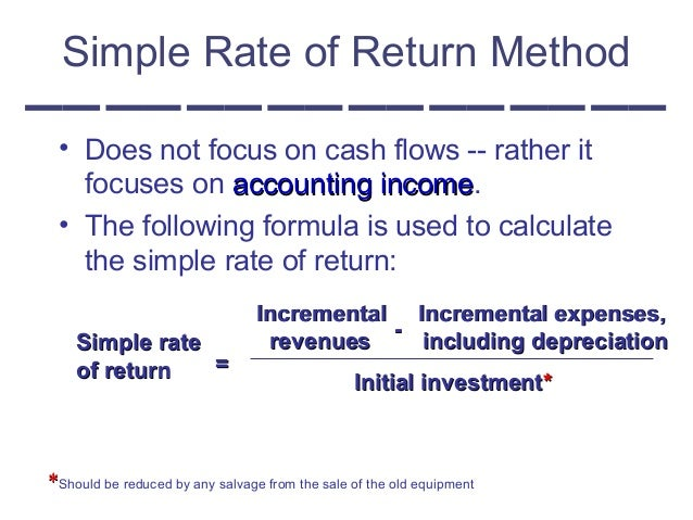 Investimenti 8 Recupero Investimento Iniziale Simple