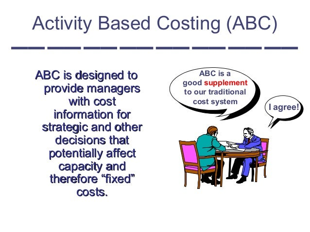 the impact of activity based costing on Companies in different countries were using activity-based costing, were  considering its  implementation and behavioral implications of abc application.
