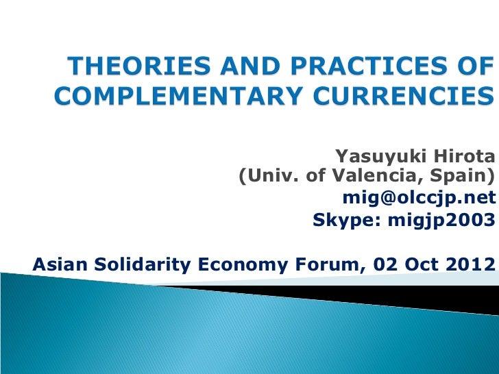 Yasuyuki Hirota                   (Univ. of Valencia, Spain)                              mig@olccjp.net                  ...