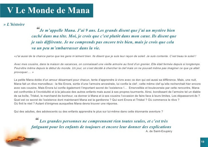 """V Le Monde de Mana » L'histoire                       """"Je m'appelle Mana. J'ai 9 ans. Les grands disent que j'ai un mystèr..."""