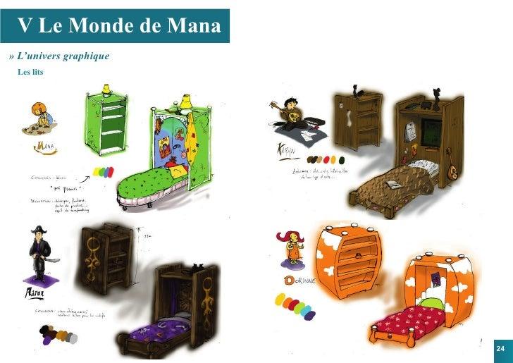 V Le Monde de Mana » L'univers graphique  Les lits                             24