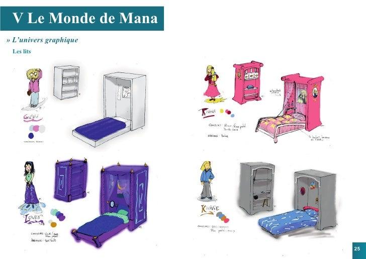 V Le Monde de Mana » L'univers graphique  Les lits                             25