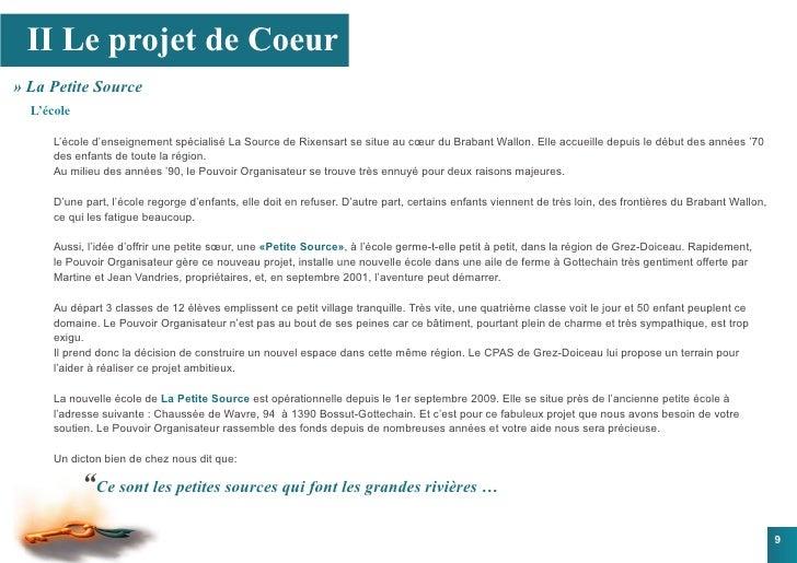 II Le projet de Coeur » La Petite Source   L'école        L'école d'enseignement spécialisé La Source de Rixensart se situ...