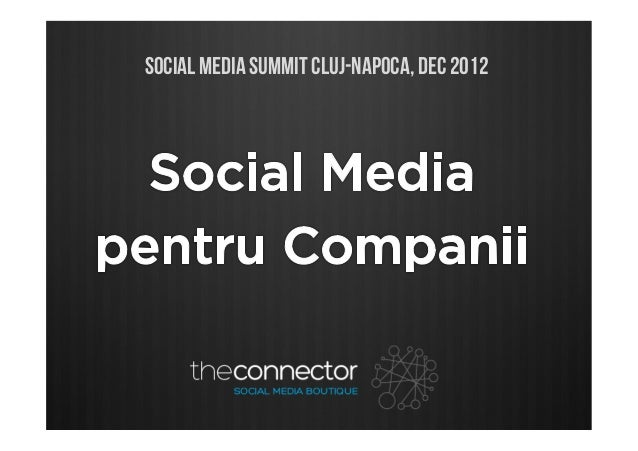 SOCIAL MEDIA SUMMIT CLUJ-NAPOCA, DEC 2012