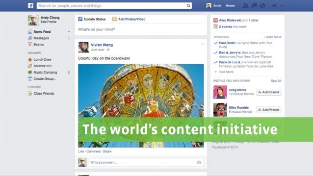 The world's content initiative