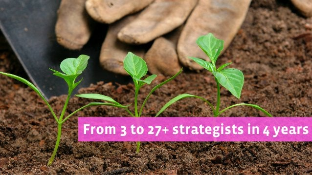 From 3 to 27+ strategists in 4 years
