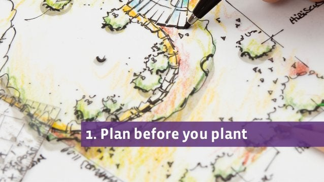 1. Plan before you plant