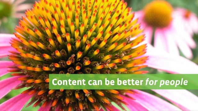 Content can be better for peopleContent can be better