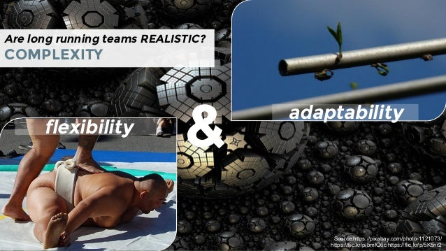 Are long running teams REALISTIC? COMPLEXITY flexibility & Source:https://pixabay.com/photo-1121073/ https://flic.kr/p/bmf...